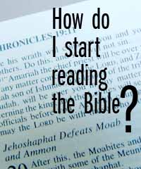How do I start reading the Bible? | StudentSoul